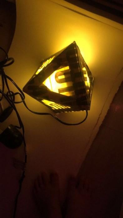 Как сделать дизайнерскую лампу за 1$