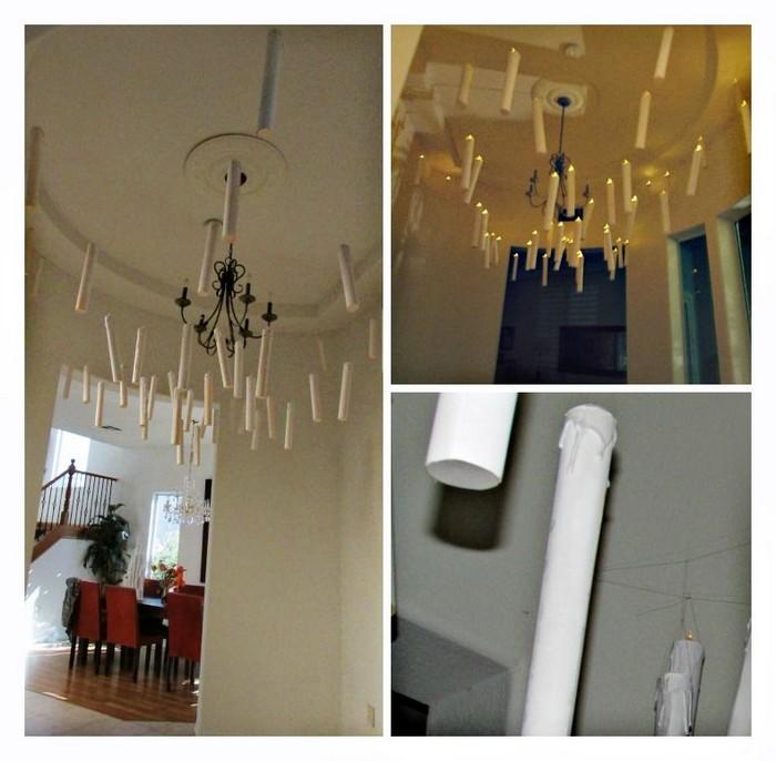 Как просто сделать волшебные свечи, «парящие» под потолком