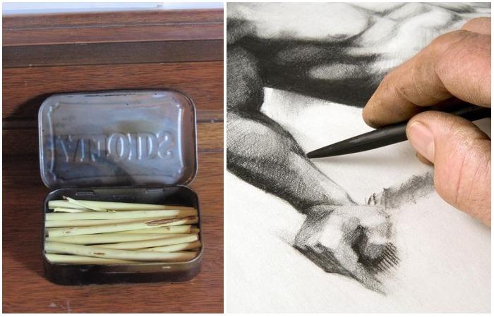 Как сделать угли для рисования и не потратить ни копейки