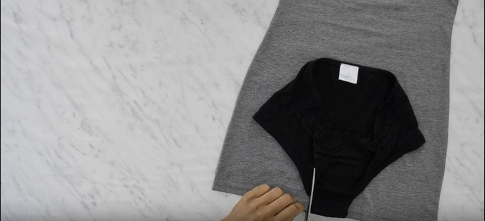 Как сделать модный боди из обычной майки