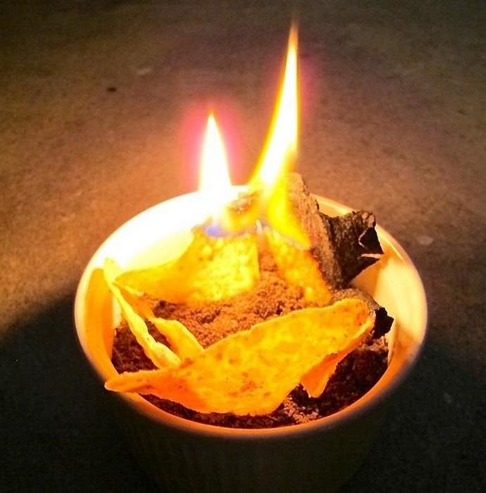Делаем свечи длительного горения из продуктов питания