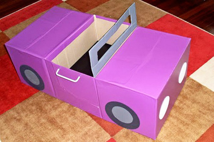 Машина из коробок от сока своими руками