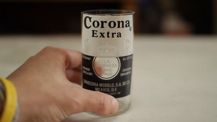 Оригинальные стаканы для пива из пивных бутылок