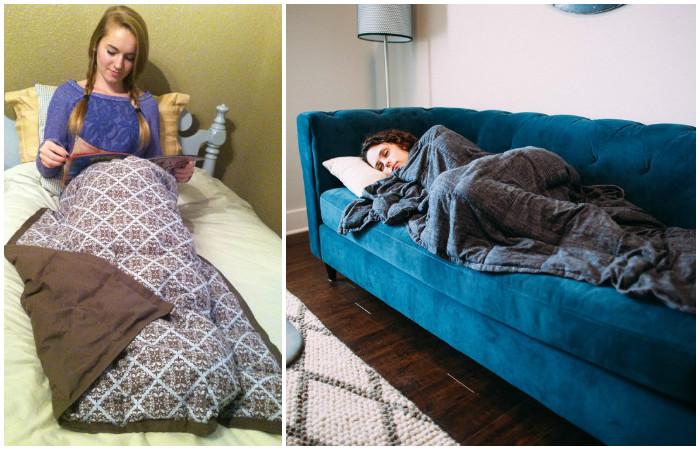Как сделать тяжёлое одеяло для быстрого засыпания и борьбы с бессонницей
