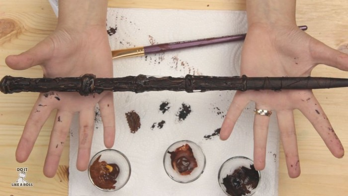 Как сделать волшебные палочки в стиле «Гарри Поттера» для подарка или тематической вечеринки