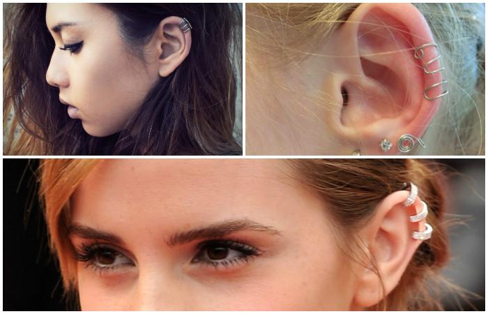 Делаем модные серёжки-каффы, для которых даже не придётся прокалывать уши