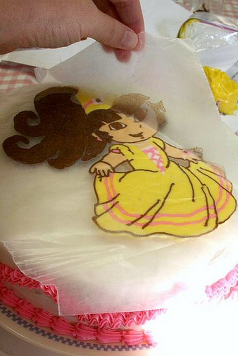 Как в домашних условиях сделать рисунок на торте