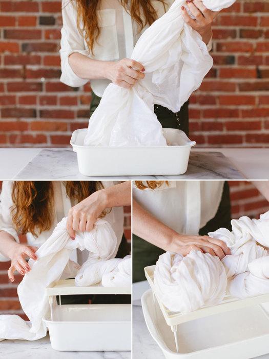 Как самому покрасить постельное бельё в оригинальной «акварельной» технике
