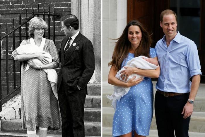 10 одинаковых образов принцессы Дианы и Кейт Миддлтон
