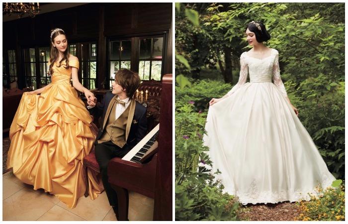 Коллекция свадебных платьев по мотивам мультфильмов  Disney