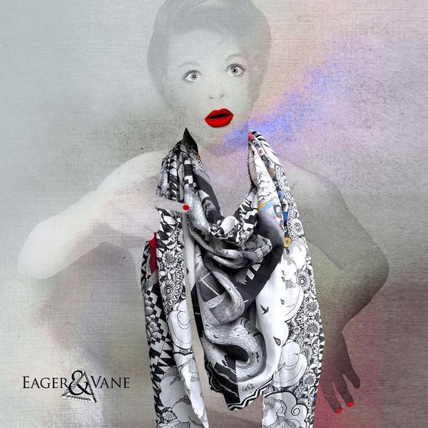 Психоделические шёлковые шарфики от сестёр Eager & Vane