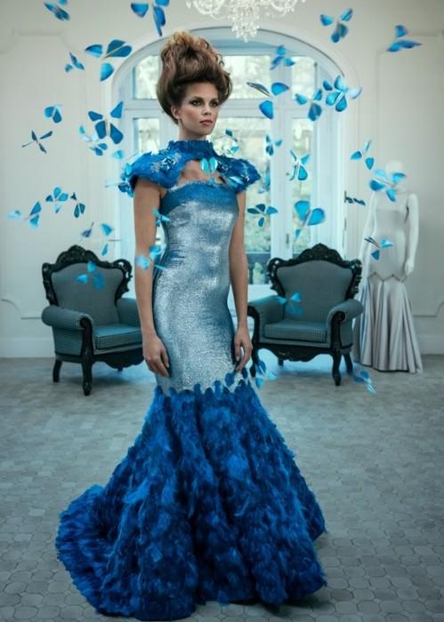 Высокая мода и технологии в платье из «живых» бабочек от Ezra + Tuba и Intel
