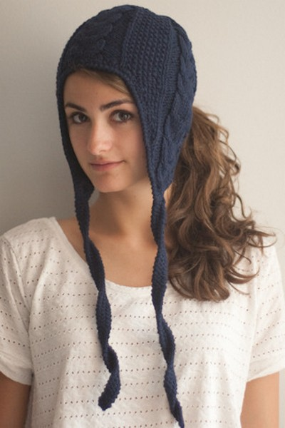 """Вязанные женские шапки Fit to Flick: и ушки в тепле, и прическа в целости  """" -=* WebPark.az *=- интернет журнал про..."""