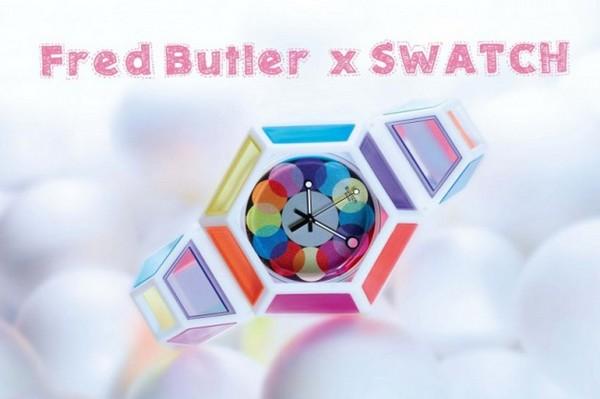 Красочная коллаборация Swatch и дизайнера Fred Butler