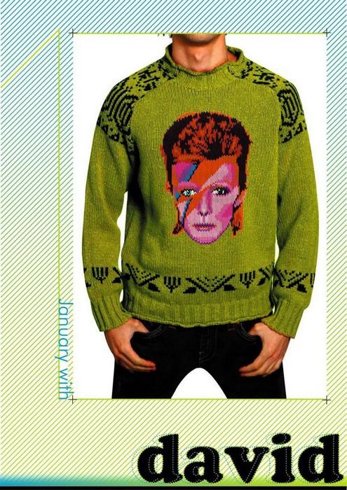 Необходимость в холода. А свитер с Дэвидом Боуи – это даже круче, чем свитер с оленями.