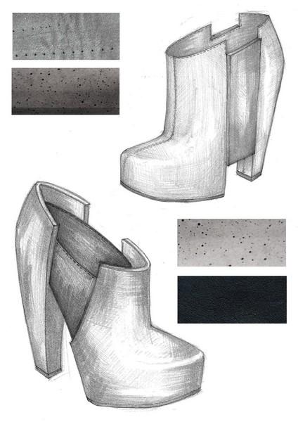 Одежда и аксессуары из бетона от Ivanka Studio