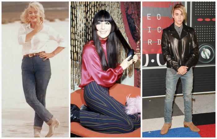 Эволюция джинсов за последние 100 лет.