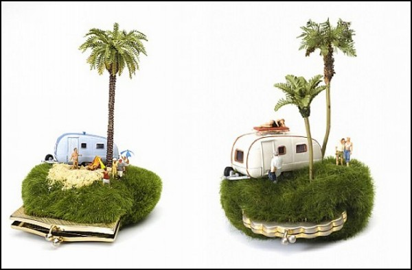 Искусство миниатюр: клатчи с фургонами от Kendal Murray