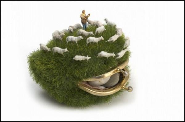 Искусство миниатюр: клатч-лужайка от Kendal Murray