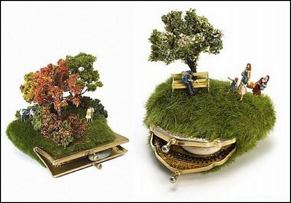 Искусство миниатюр: необычные клатчи от Kendal Murray