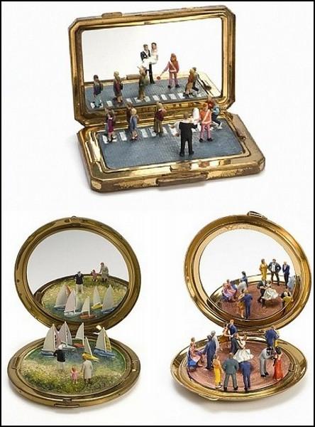 Искусство миниатюр: необычные зеркальца от Kendal Murray