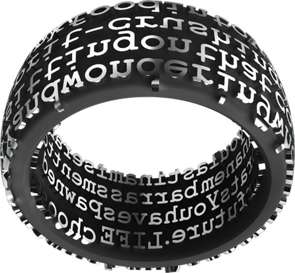 Кольца-штампы с романтичными посланиями