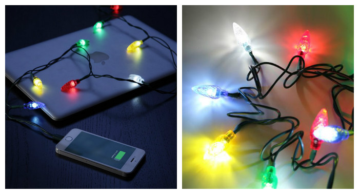 Гирлянда для айфона Phone Merry Charger