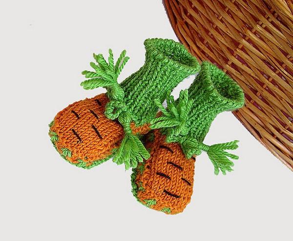 «Фруктово-овощные» пинетки от Mia Piccina