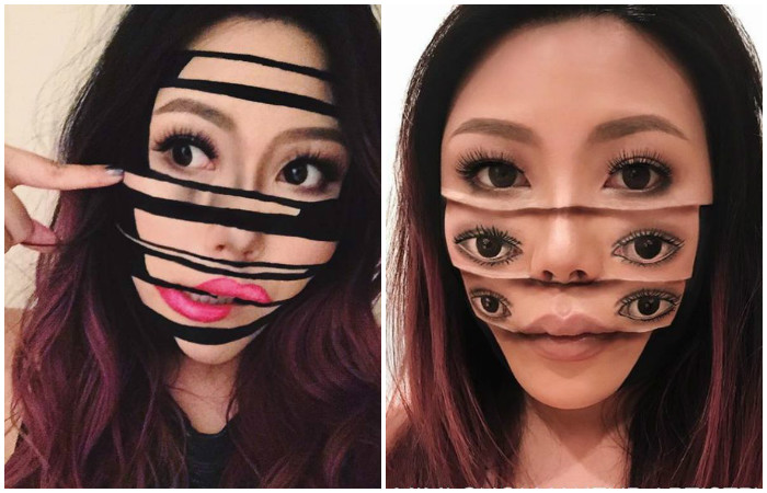 Оптические иллюзии в макияже от Мими Чой (Mimi Choi)