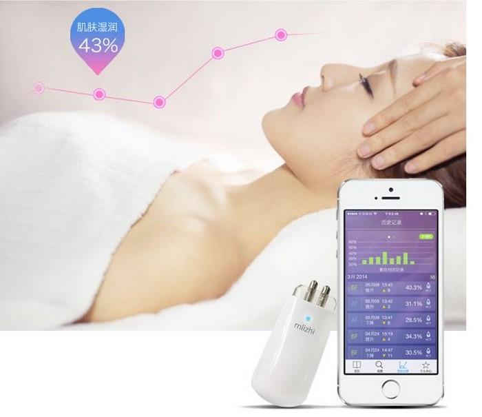 Гаджет Mlizhi позволит измерить уровень увлажнённости кожи и продлить молодость