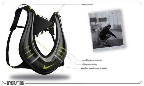 Эргономичная фляга-жилет Nike Hydration Pack