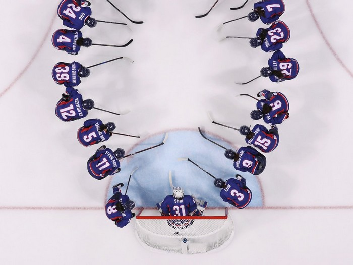 Корейская сборная готова к сигнальному свистку.