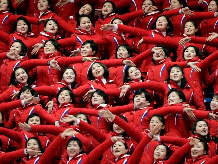 Чирлидинг по-северокорейски.