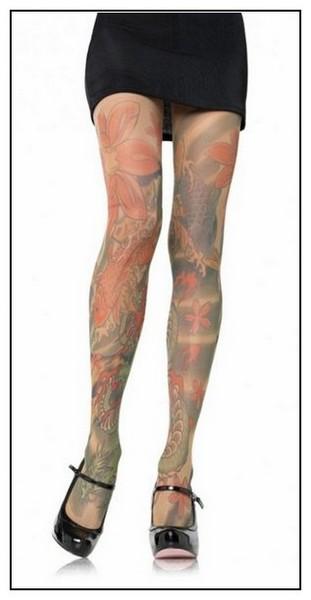 Необычные татуировки: дизайнерские колготки
