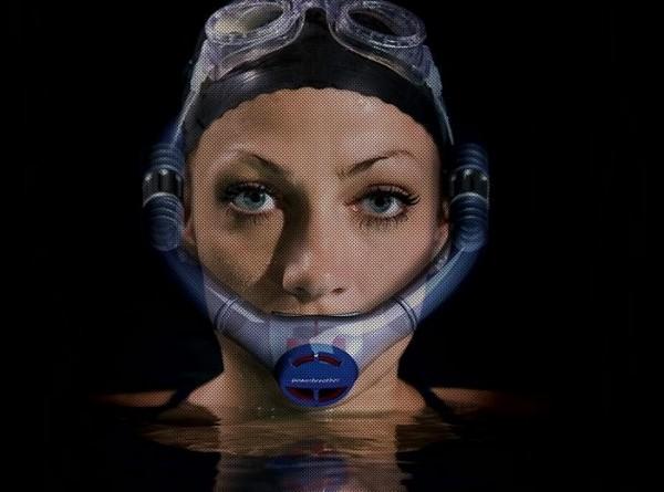 Новинка для плавания Powerbreather