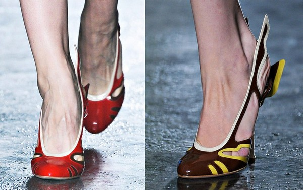 Весенняя коллекция туфель с настроением от Prada