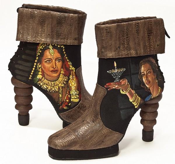 Уникальная обувь для фанатов индийского кино