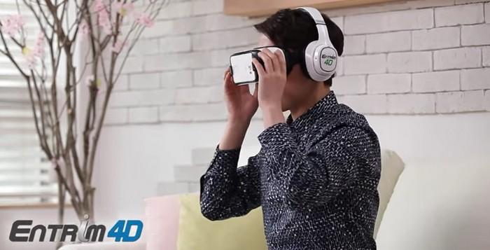 Наушники «виртуальной реальности» Samsung Entrim 4D