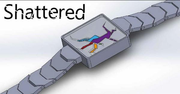 Художественно разбитые часы Shattered от Тokyoflash