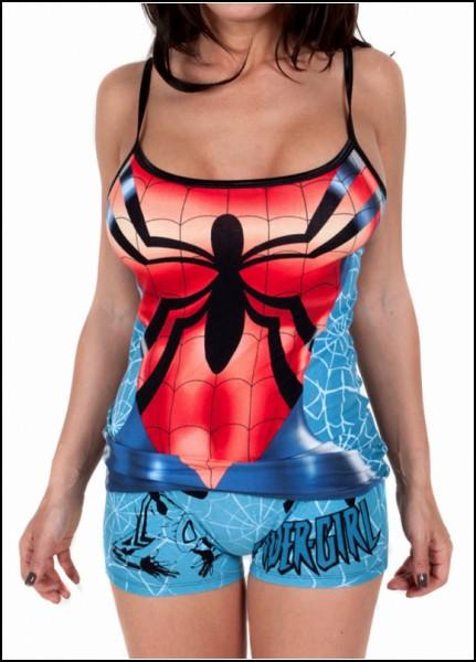 Креативная женская пижама для подружки Спайдермена