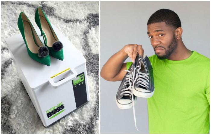 Stinkboss – контейнер, который сам «постирает» и избавит обувь от неприятного запаха