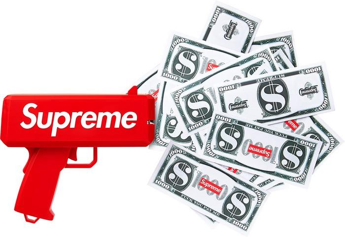 Cash Cannon от Supreme – «пушка», которая стреляет деньгами