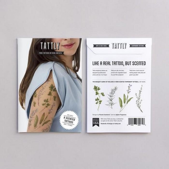 Нежные татуировки от Tattly Tattoos с приятным запахом, с которыми и духи не нужны