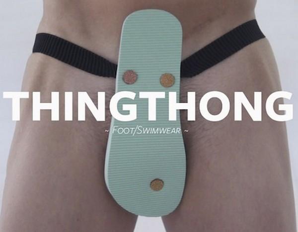 Нескромные шлёпанцы ThingThong заменят плавки