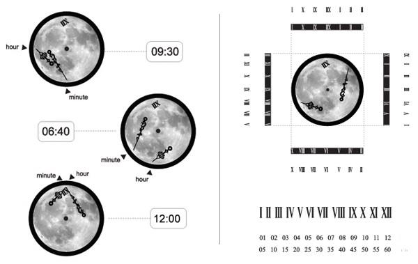 Лунные часы Time & Space от i3lab с необыкновенными стрелками