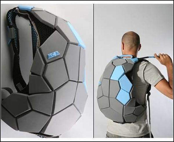 Обзор самых необычных рюкзаков: рюкзак-панцирь