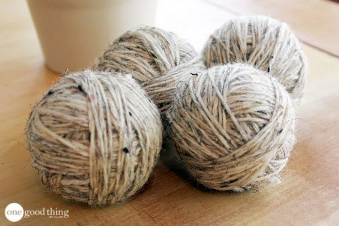 Самодельные шарики для стирки и сушки белья помогут сэкономить во время стирки