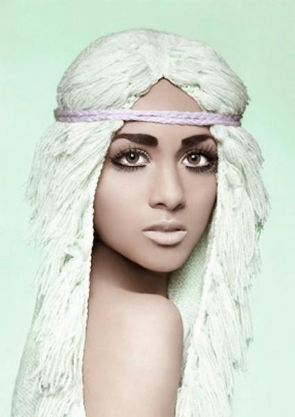 Вязаные шапки-парики Wooly Head