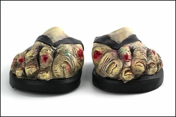 Страшные зомби тапочки в стиле «трэш»