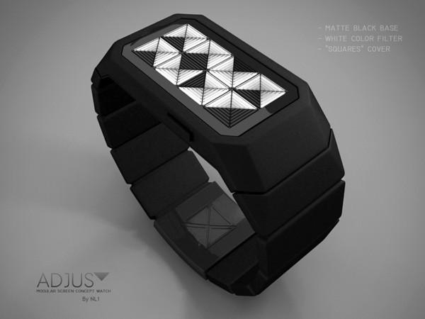 Электронные наручные часы Adjust из недалёкого будущего